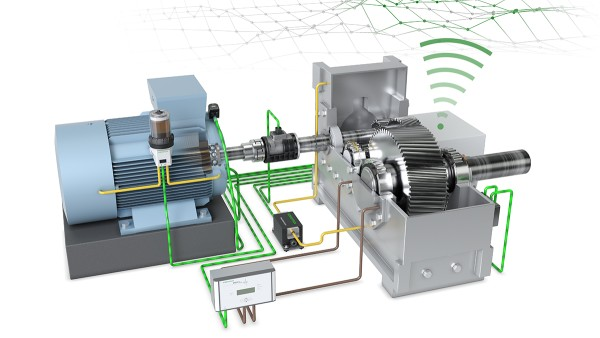 "Schaeffler's ""Drive Train 4.0"" technology demonstrator shows solutions for digitalized production and machine monitoring."