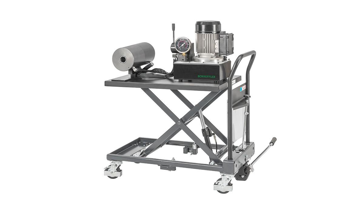 Schaeffler onderhoudsproducten: Mobiel hydraulisch apparaat